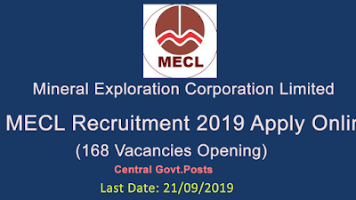 MECL Recruitment 2019 Apply Online (168 Vacancies Opening)
