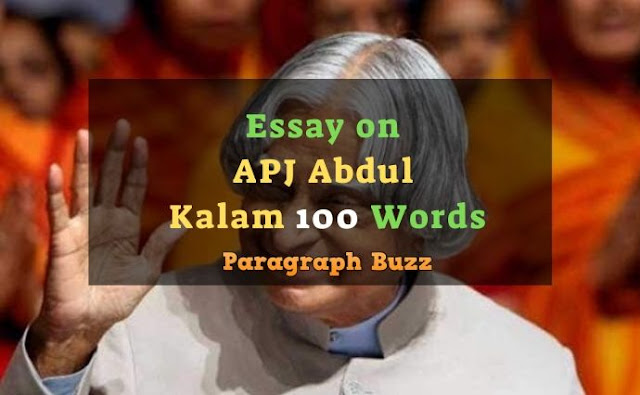 Essay on APJ Abdul Kalam in 100 Words