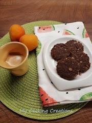 Пълнозърнести бисквити с овесени ядки, бадеми и какао * Biscotti integrali avena mandorle e cacao