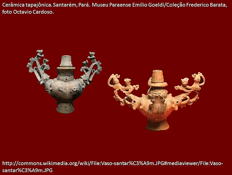 Cerâmicas recuperadas na bacia do Tapajós, Santarém, Pará