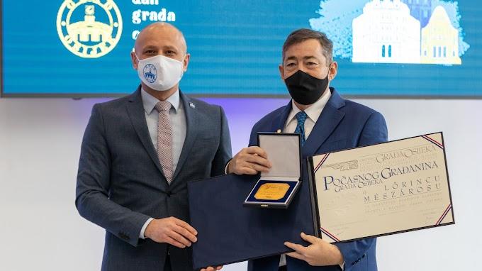 Eszék díszpolgára lett Mészáros Lőrinc