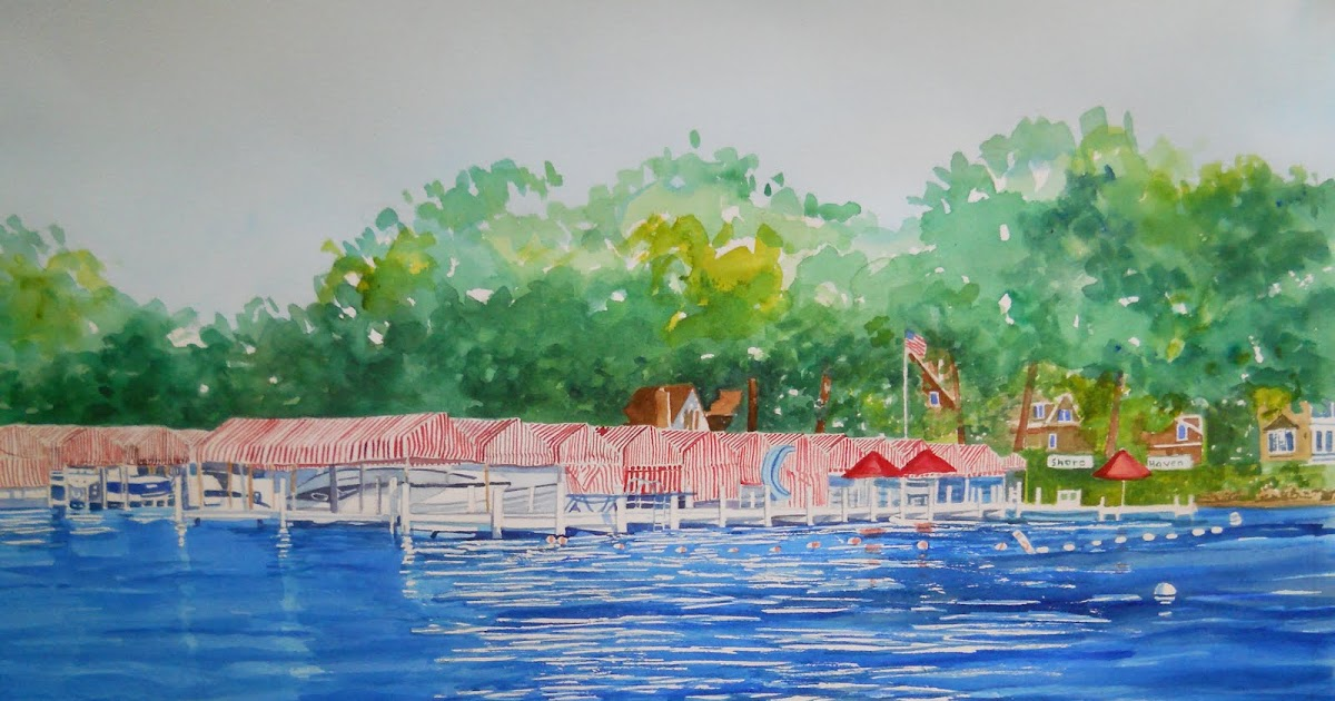 pat heintzelman watercolors shore haven on geneva lake. Black Bedroom Furniture Sets. Home Design Ideas