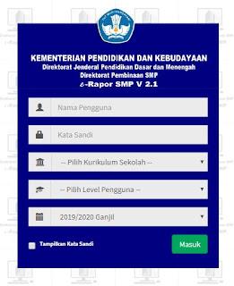File Pendidikan 9 Langkah Cara Login Aplikasi Erapor Versi 2.1 Tahun 2019/2020