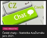 České chaty – Statistika AzaŽurnálu Jaro 2021. - AzaNoviny