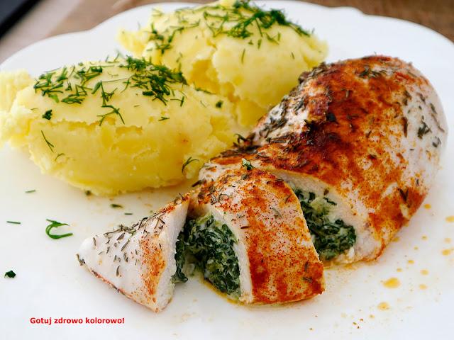 Filet z kurczaka faszerowany szpinakiem - Czytaj więcej »