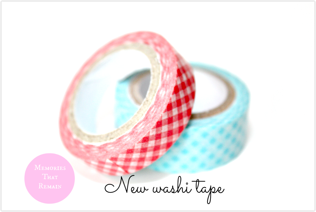 checkered washi tape