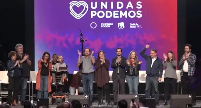 Intervenciones en el cierre de campaña de Unidas Podemos
