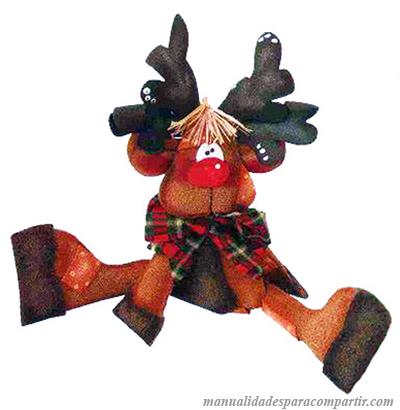Manualidades Navideñas | Reno de goma eva con moldes para decorar arbol de navidad.