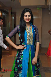 Actress Model Shamili Sounderajan Pos in Desginer Long Dress at Khwaaish Designer Exhibition Curtain Raiser  0037.JPG