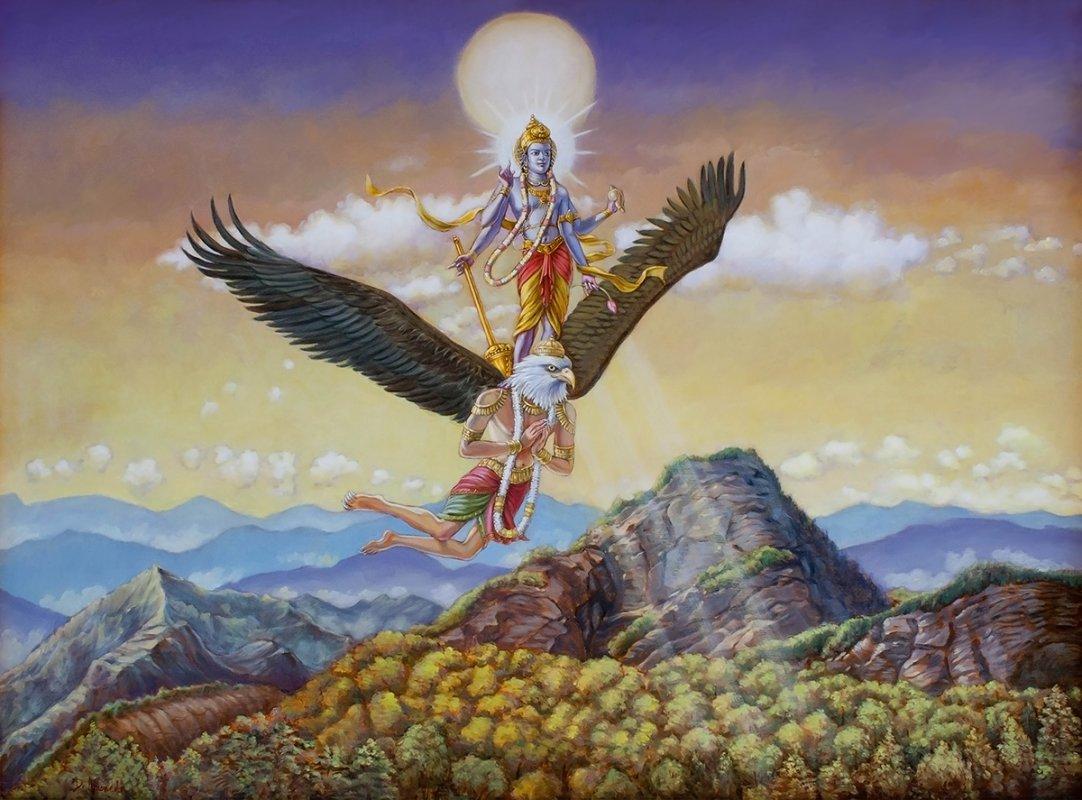 garuda and lord vishnu