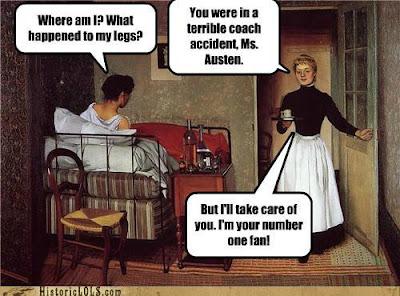 kilt, Regency, England, meme, funny, humor, cravat, romance writer, romance novel, Jane Austen