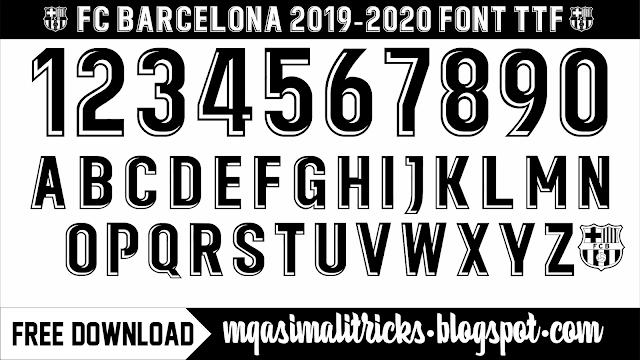 FC Barcelona 2019-20 Font TTF Free Download by M Qasim Ali