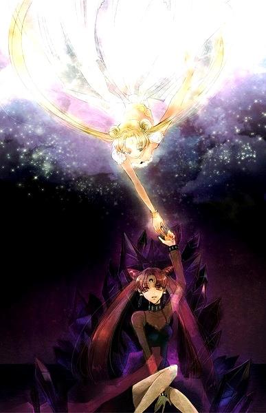 Sailor Moon Princess Serenity And Black Lady