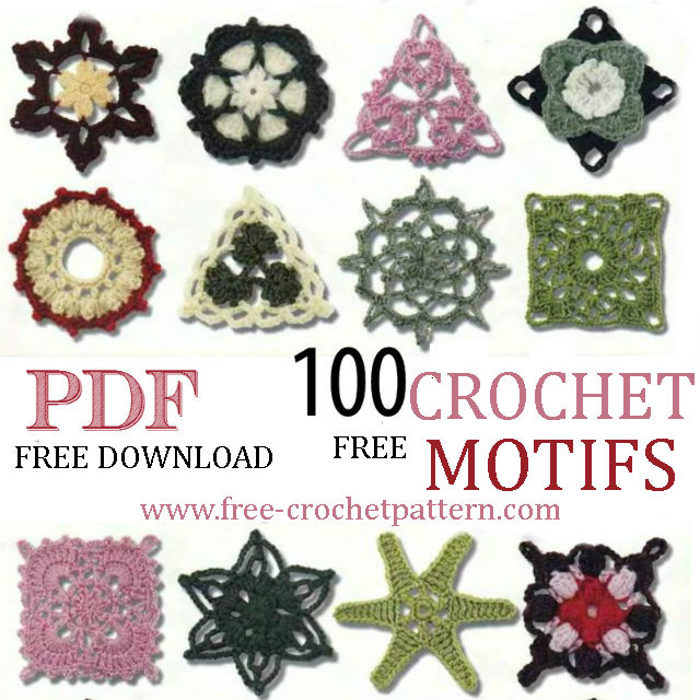 100 FREE CROCHET MOTIFS FOR DOWNLOAD