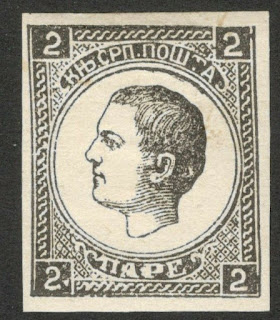 Serbia Milan I Newspaper stamp