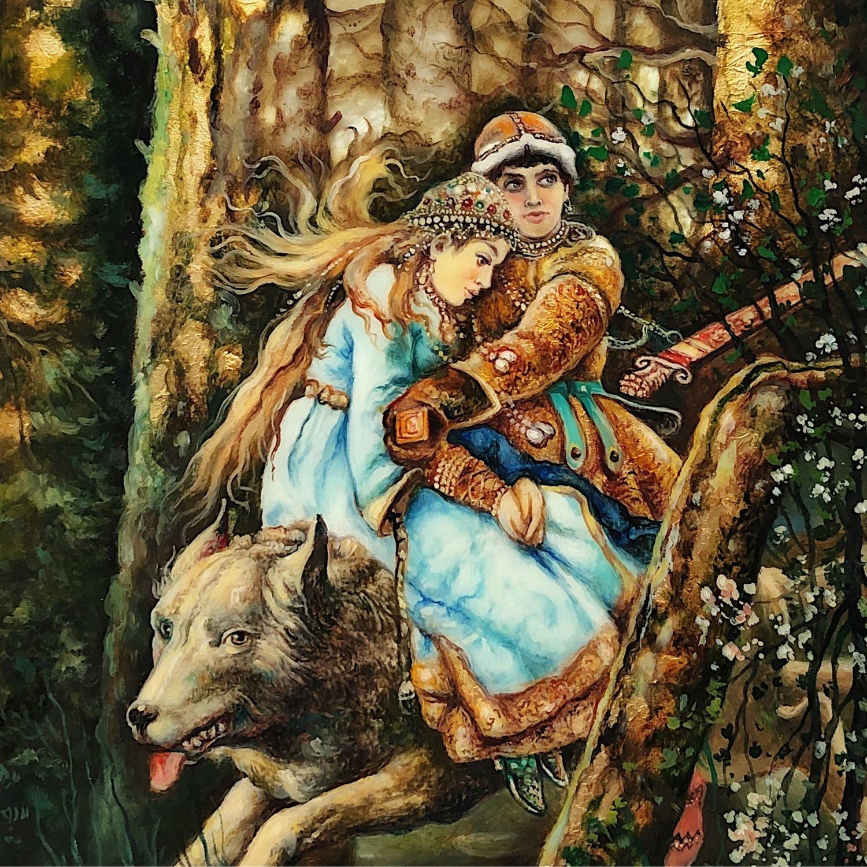 Иван царевич на серый волк картина