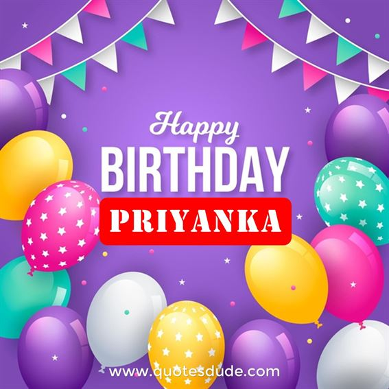 Happy Birthday Priyanka Cake, Images and Quotes