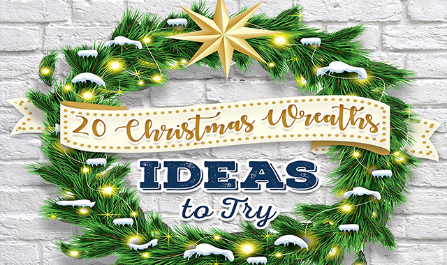 20 Christmas Wreath Ideas to Try #infographic