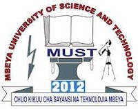 Join Instruction of Mbeya University of Science and Technology (MUST) 2019/2020 | PDF Join Instruction, Join Instructions za Vyuo 2019/2020