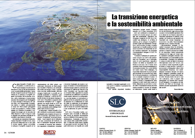 MARZO 2020 PAG. 26 - La transizione energetica e la sostenibilità ambientale