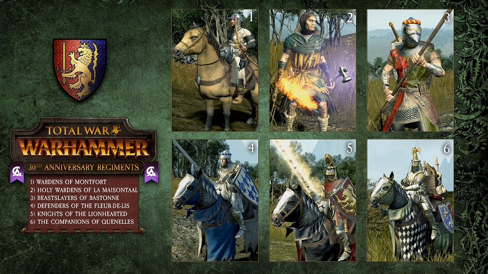Creative Assembly celebra su 30 aniversario con unidades de élite para Total War Warhammer