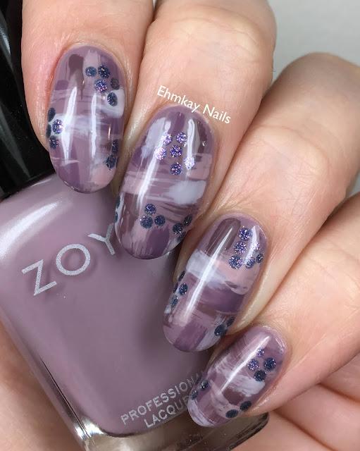Zoya Naturel 4 Abstract Nail Art