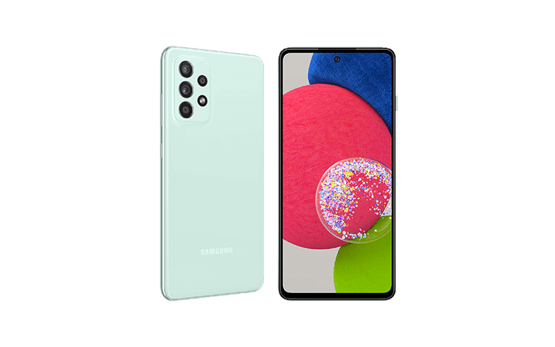 Galaxy A52s 5G in Awesome Mint