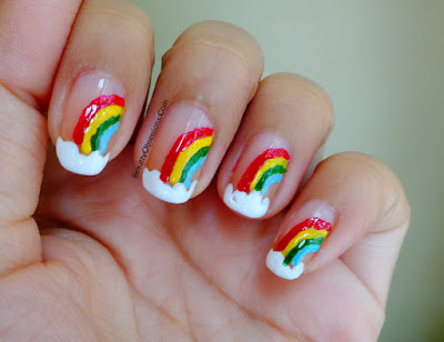 Simple And Beautiful Rainbow Design Nailart Tutorial...