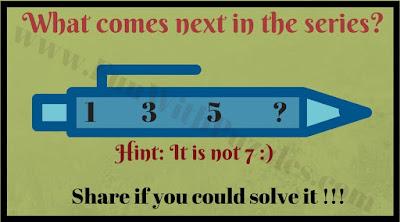 1 3 5 ? Hint: It is not 7.