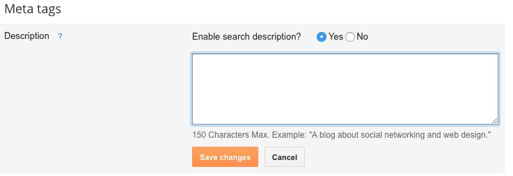 Add The Search Description Field