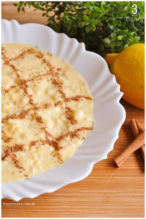 receita de arroz doce tradicional português