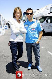 Loris Capirossi and Ingrid Tence