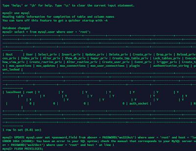 Cara memperbaharui password MYSQL di ubuntu server akibat lupa dengan menggunakan terminal