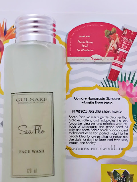 Unboxing: My Envy Box - May 2016 - Tropical Paradise, Indian Beauty Box, Gulnarf Seaflo face wash