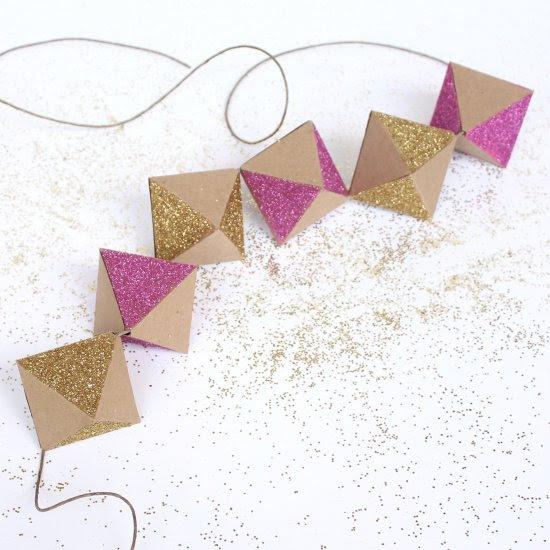 Glittery Geometric Garland