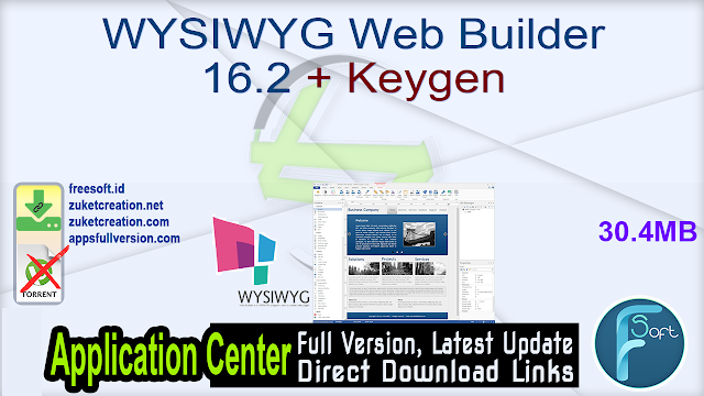 WYSIWYG Web Builder 16.2 + Keygen