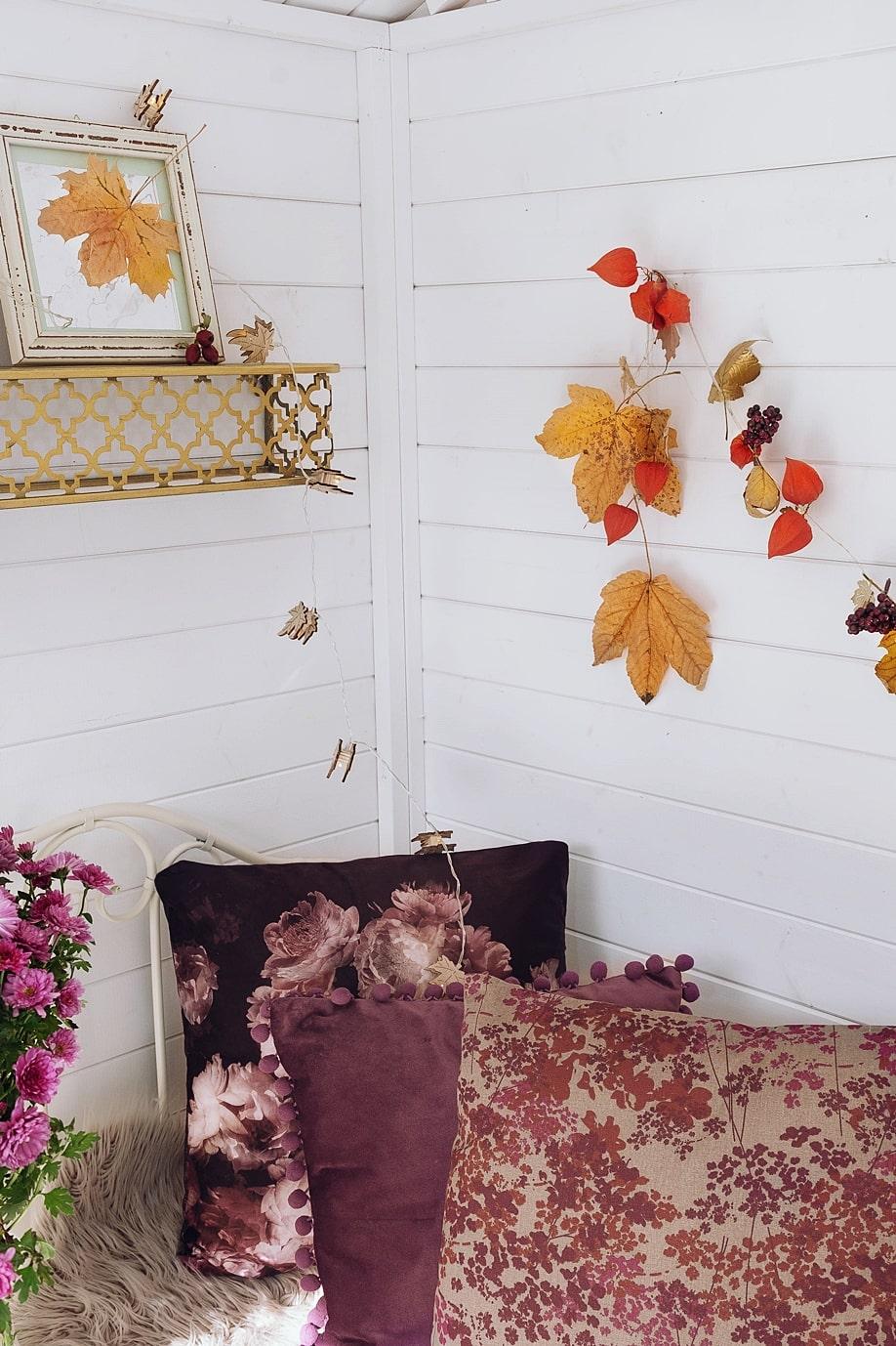 Naturmaterialien sorgen für Herbststimmung in unserem Zuhause.