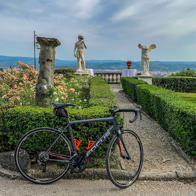 Full carbon road bike rental delivered at Belmond Villa San Michele in Fiesole Tuscany Italy