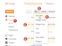 Cara Membuat,  edit &  hapus mengapus Label Di Blogger blogspot.com