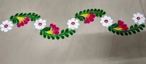 beautiful flower rangoli for side borders