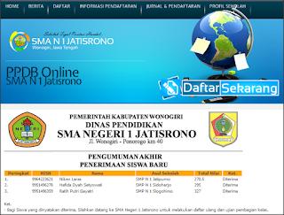 Download Aplikasi Penerimaan Siswa Baru (PSB) Online Berbasis Web Jurnal dan Pendaftaran