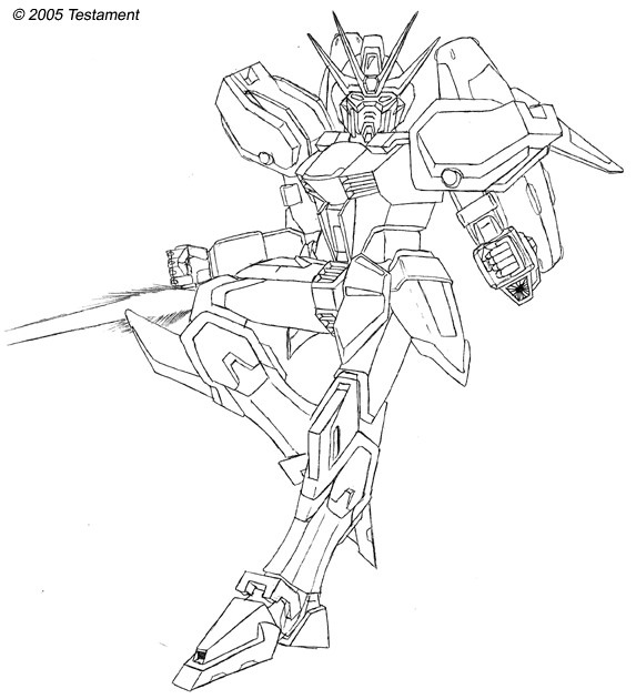 Big Gundam Anime Robot Minister Coloring