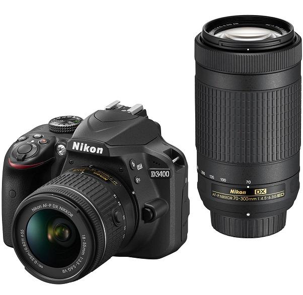 Фотоапарат DSLR Nikon D3400, 24.2MP Black, Body