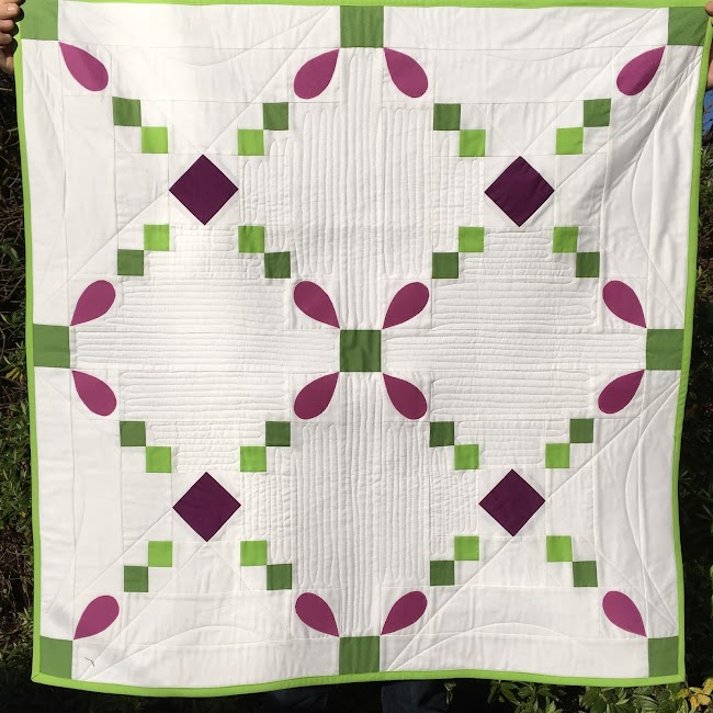 quick step quilt Irish chain with applique