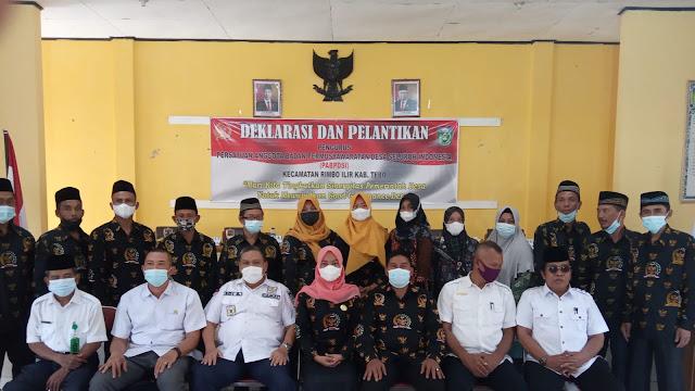 Dilantik, PABPDSI Rimbo Ilir Siap Bersinergi Wujudkan Pemerintahan Desa Yang Baik