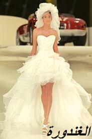 صور فساتين زفاف، قصيرة موضة 2021
