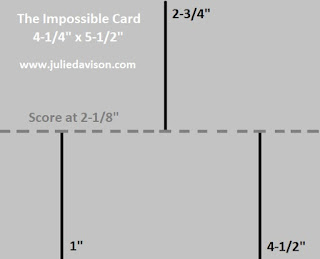The Impossible Card Template ~ www.juliedavison.com