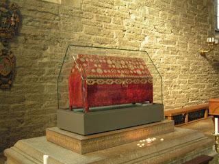 Photo représentant le reliquaire de Sainte Brigitte de Suède