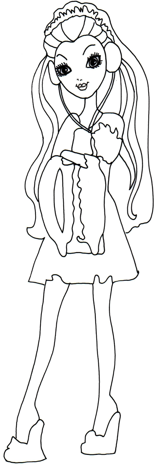 Free ever after high coloring pages january 2014 for Queen coloring page