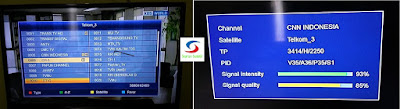 Channel, Frekuensi dan Transponder Satelit Telkom3S terbaru